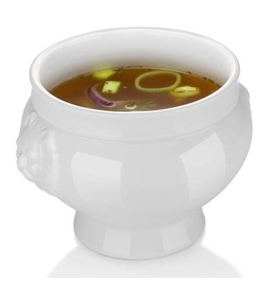 Hendi Bol à Soupe Lionhead - Porcelaine Blanche - 250ml - 112x78mm