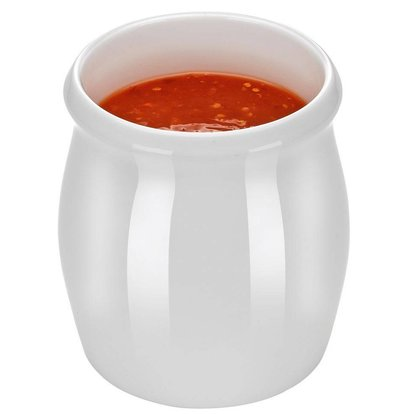 Hendi Pot à Vinaigrette - Porcelaine Blanche - 1800ml
