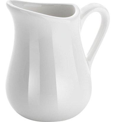 Hendi Pot à Lait - Porcelaine Blanche - 80ml - 2 Pièces