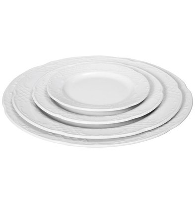 Hendi Assiette Plate FLORA - Porcelaine Blanche - Ø160mm