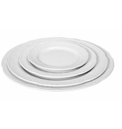 Hendi Assiette Plate FLORA - Porcelaine Blanche - Ø200mm