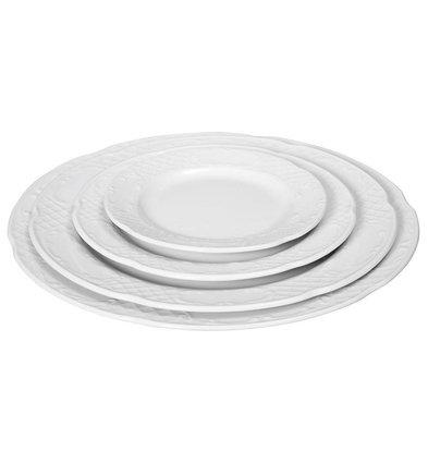 Hendi Assiette Plate FLORA - Porcelaine Blanche - Ø255mm