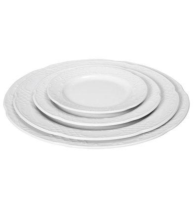 Hendi Assiette Plate FLORA - Porcelaine Blanche - Ø300mm