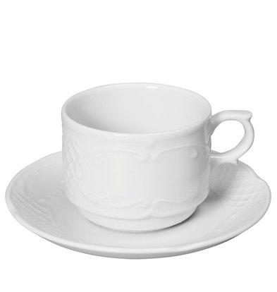 Hendi Soucoupe Flora - Porcelaine Blanche - 130mm
