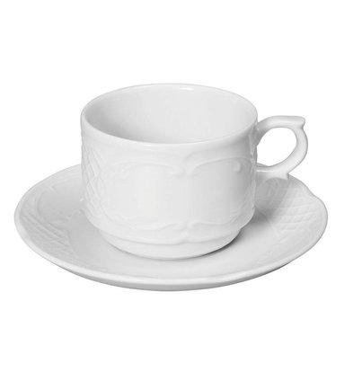 Hendi Tasse à Café Flora -Porcelaine Blanche - 180ml