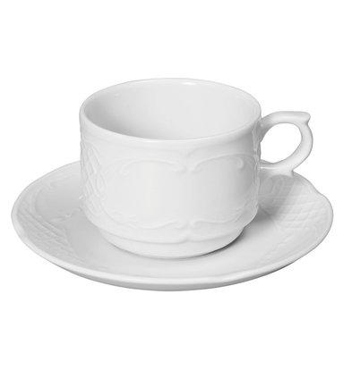 Hendi Soucoupe Flora - Porcelaine Blanche - 138mm