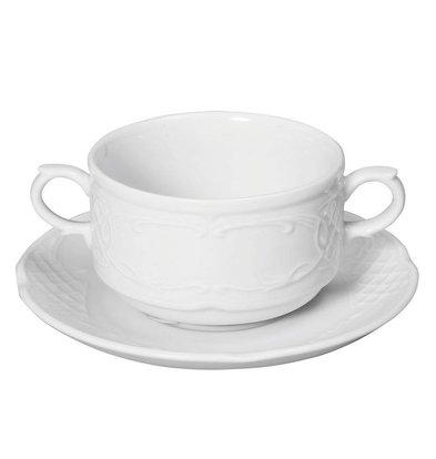 Hendi Soucoupe Flora - Porcelaine Blanche - 158x20mm
