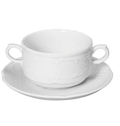 Hendi Bol à Soupe Flora - Porcelaine Blanche - 250ml - 99x147x62mm