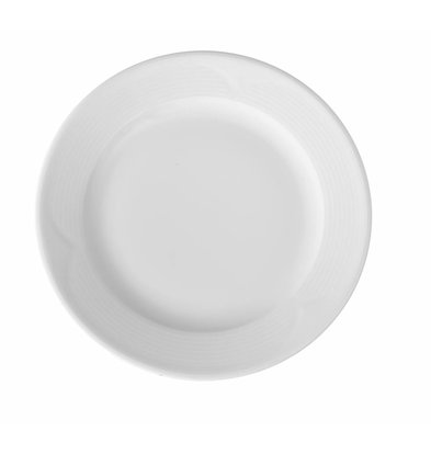 Hendi Assiette Plate SATURN - Porcelaine Blanche - Ø240mm