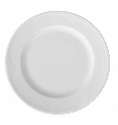 Hendi Assiette Plate SATURN - Porcelaine Blanche - Ø280mm