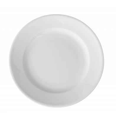 Hendi Assiette Plate SATURN - Porcelaine Blanche - Ø300mm