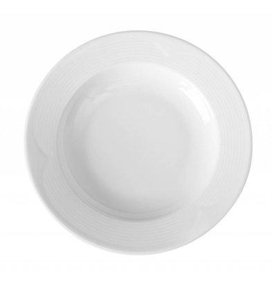 Hendi Assiette Creuse SATURN - Porcelaine Blanche - Ø220X35mm