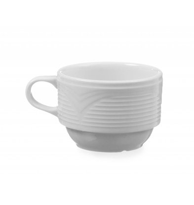 Hendi Tasse à Café Saturn - Porcelaine Blanche - 170ml