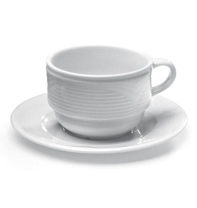 Hendi Soucoupe Saturn - Porcelaine Blanche - 125mm