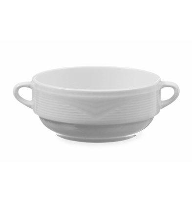 Hendi Bol à Soupe SATURN - Porcelaine Blanche - 380ml - 160x1250x55mm