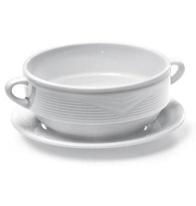 Hendi Soucoupe SATURN - Porcelaine Blanche - 180x20mm