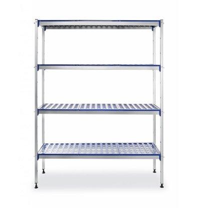 Hendi Étagère Aluminium 4 Niveaux | max.150kg | à Monter | 1280x405x(H)1685mm