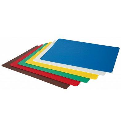 Hendi Plaques de Découpe Flexibles - Selon HACCP - Polypropylène - 6 Pièces