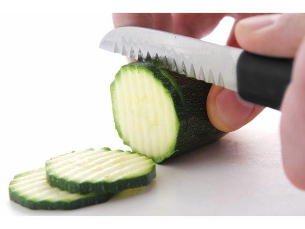 Hendi Couteau de Décoration Inox - Dentelé 90mm - 200mm