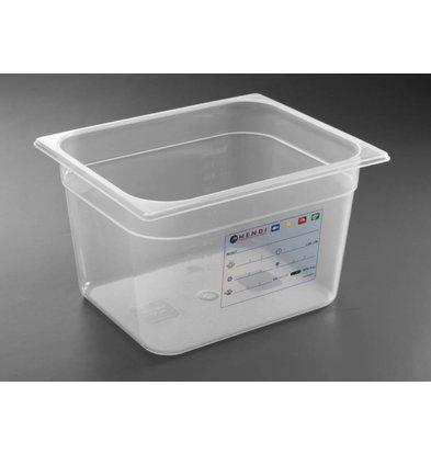 Hendi Boîte de Stockage GN 1/2 - 6,5 Litres - 100(h)mm