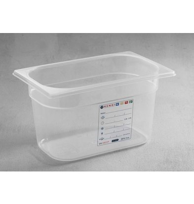 Hendi Boîte de Stockage GN 1/4 - 4 Litres - 150(h)mm
