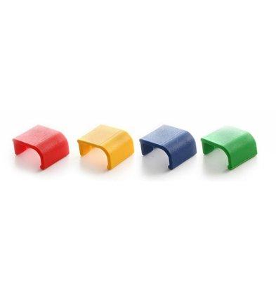 Hendi Clips De Couvercle - Pour Boites De Stockage HACCP - Vert - 12 Pièces