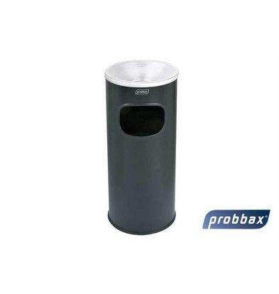 CHRselect Poubelle avec Cendrier Noir | Récipient 30 Litres | Eteint les Feux | 250x250x650mm