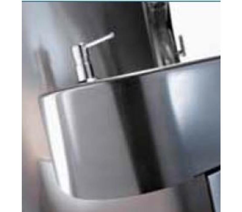 Sofinor Lave-Mains Inox AISI 304   Commande au Genou   Clinium Deluxe - Modèle Hôpital   460x436x(H)270mm