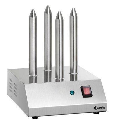 Bartscher Toaster Hot-Dogs à Broches T4 - 190W - 240x280x310(h)mm