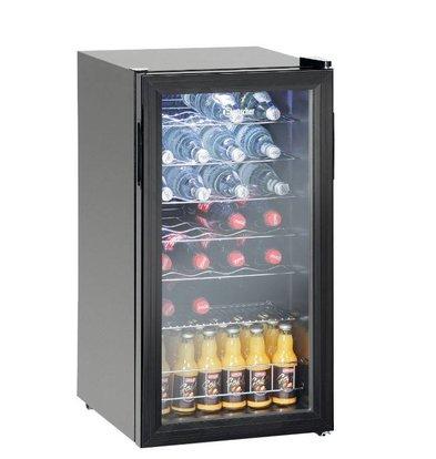 Bartscher Armoire Vitrine Réfrigérée |  88 Litres | Éclairage LED | 430x480x820(h)mm