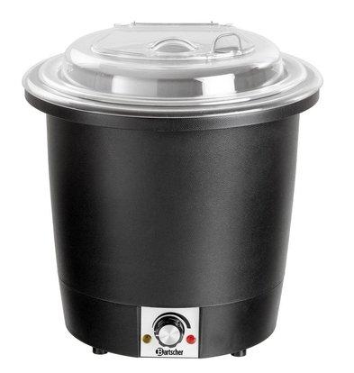 Bartscher Soupière Noire | 10 Litres | Boîtier Synthétique | Ø330-380(h)mm