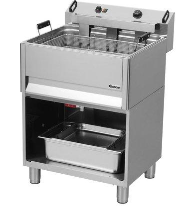 Bartscher Friteuse à Beignets Électrique - Sur Armoire Ouverte - 30 Litres - 660x650x980-1040(h)mm