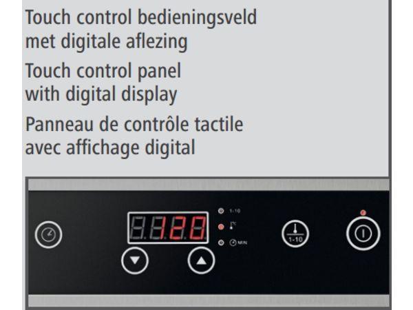 Bartscher Réchaud à Induction   Surface Vitrocéramique   3,5kW   340x445x117(h)mm