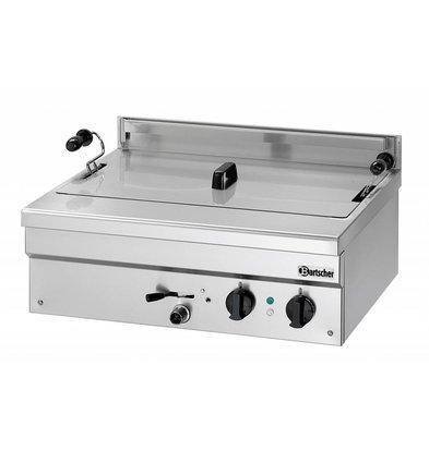 Bartscher Friteuse à Beignets Électrique Inox + Vanne de Vidange - 21 Litres - 700x590x320(h)mm