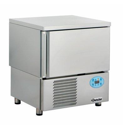 Bartscher Surgélateur Rapide Inox - Froid Ventilé - 5x GN1/1 - 720x700x850(h)mm