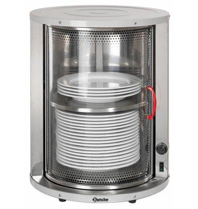 Bartscher Chauffe-Assiette Inox |  30-40 Assiettes de Ø320mm | 600W | Ø460-575(h)mm
