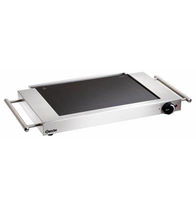 Bartscher Plaque Grill Vitro | Boîtier Inox | Poignées Latérales | 1,2kW | 640x365x63(h)mm