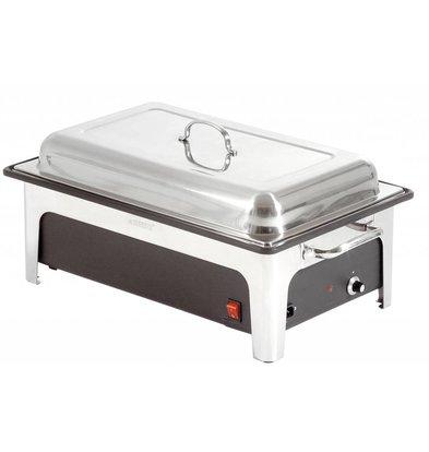 Bartscher Chafing Dish GN 1/1 Inox - Récipient Pour l'Eau Synthétique Noire - 2,2kW - 636x357x287(h)mm
