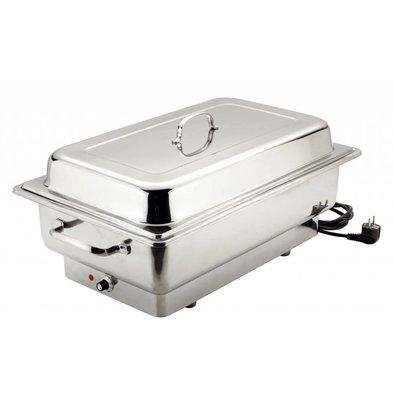 Bartscher Chafing Dish GN 1/1 Inox - 100(p)mm - 1,0kW - 623x356x285(h)mm