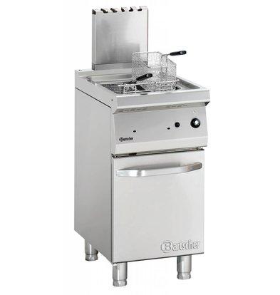Bartscher Friteuse à Gaz Inox + 2 Paniers - Série 700 - 15 Litres - 15kW - 400x700x850-900(h)mm