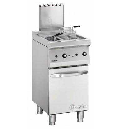 Bartscher Friteuse à Gaz Inox + 2 Paniers - Série 700 - 15 Litres - 11,5kW - 400x700x850-900(h)mm
