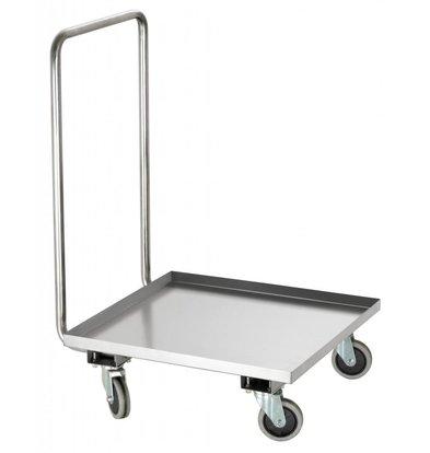 Bartscher Chariot à Transport Inox - Pour Casiers De Lavage - 515x640x925(h)mm
