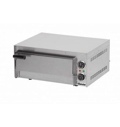 Bartscher Four à Pizza Inox Mini | 230V | 1 Pizza Ø350mm | 545x500x230(h)mm