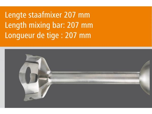 Bartscher Set Mixeur H200 | 700W | 5 Vitesses | Usage à Domicile