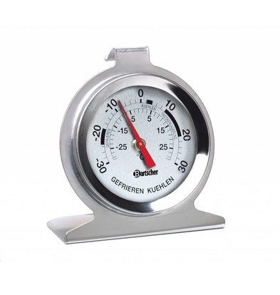 Bartscher Thermomètre pour Frigo Inox | -30/+30 °C | Ø42mm
