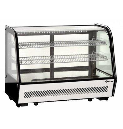 Bartscher Vitrine Réfrigérée Noire | 2 Ventilateurs | Éclairage LED | 160 Litres | 885x575x685(h)mm