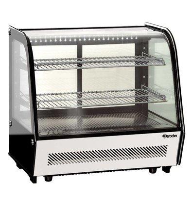 Bartscher Vitrine Réfrigérée Noire | 2 Ventilateurs | Éclairage LED | 120 Litres | 710x575x685(h)mm