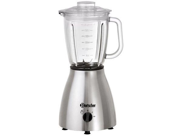 Bartscher Mixeur De Bar 2 Vitesses - Récipient En Verre - 400W - Ø220-420(h)mm