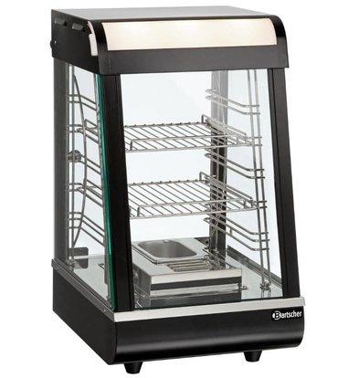 Bartscher Vitrine Chauffante Inox | 2 Grills | Porte Coulissante | Éclairage LED | 380x465x658(h)mm