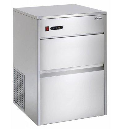 Bartscher Machine à Glaçons C40 - 35Kg/24h - Glaçons En Forme De Cône - 550x635x825(h)mm